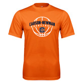 Performance Orange Tee-Carson-Newman Basketball Arched w/ Ball
