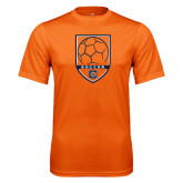 Performance Orange Tee-Soccer Shield w/ Logo