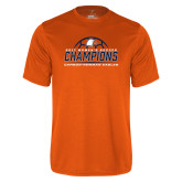 Performance Orange Tee-2017 Womens Soccer Champions w/ Ball