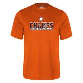 Performance Orange Tee-2017 NCAA DII Womens Soccer - CHAMPS
