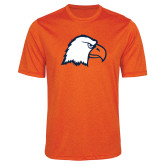 Performance Orange Heather Contender Tee-Eagle Head