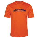 Performance Orange Heather Contender Tee-Arched Carson-Newman University