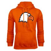 Orange Fleece Hoodie-Eagle Head