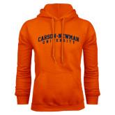 Orange Fleece Hoodie-Arched Carson-Newman University