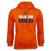 Orange Fleece Hoodie-Fear The Eagles