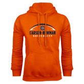 Orange Fleece Hoodie-Carson-Newman Football Stacked