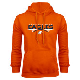 Orange Fleece Hoodie-Carson-Newman Eagles Football Stacked