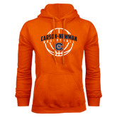 Orange Fleece Hoodie-Carson-Newman Basketball Arched w/ Ball