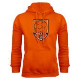 Orange Fleece Hoodie-Soccer Shield w/ Logo