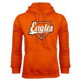 Orange Fleece Hoodie-Eagles Baseball Diamond w/ Script