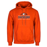 Orange Fleece Hoodie-2017 Womens Soccer Champions w/ Ball