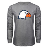 Grey Long Sleeve T Shirt-Eagle Head