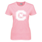 Ladies Pink T Shirt-Official Logo