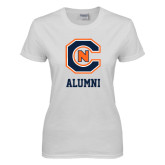 Ladies White T Shirt-Alumni