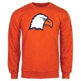 Orange Fleece Crew-Eagle Head