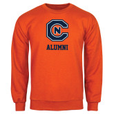 Orange Fleece Crew-Alumni