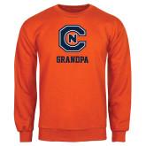 Orange Fleece Crew-Grandpa