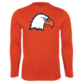 Performance Orange Longsleeve Shirt-Eagle Head
