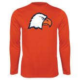Syntrel Performance Orange Longsleeve Shirt-Eagle Head