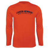 Performance Orange Longsleeve Shirt-Arched Carson-Newman University