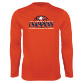 Performance Orange Longsleeve Shirt-2017 Womens Soccer Champions w/ Ball