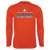 Performance Orange Longsleeve Shirt-2017 NCAA DII Womens Soccer - CHAMPS