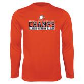 Syntrel Performance Orange Longsleeve Shirt-2017 NCAA DII Womens Soccer - CHAMPS