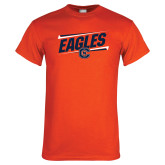 Orange T Shirt-Eagles Slanted w/ Logo