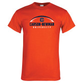 Orange T Shirt-Carson-Newman Football Stacked