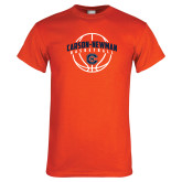Orange T Shirt-Carson-Newman Basketball Arched w/ Ball