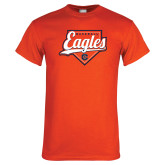 Orange T Shirt-Eagles Baseball Diamond w/ Script