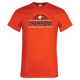 Orange T Shirt-2017 Womens Soccer Champions w/ Ball