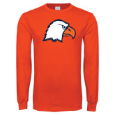 Orange Long Sleeve T Shirt-Eagle Head