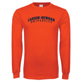 Orange Long Sleeve T Shirt-Arched Carson-Newman University