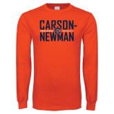 Orange Long Sleeve T Shirt-Carson Newman Stacked