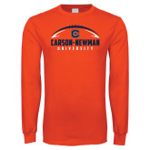 Orange Long Sleeve T Shirt-Carson-Newman Football Stacked
