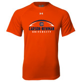 Under Armour Orange Tech Tee-Carson-Newman Football Stacked