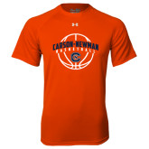 Under Armour Orange Tech Tee-Carson-Newman Basketball Arched w/ Ball
