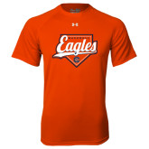 Under Armour Orange Tech Tee-Eagles Baseball Diamond w/ Script