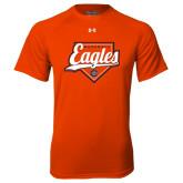 Under Armour Orange Tech Tee-Eagles Baseball Diamond w/ Script