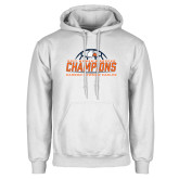 White Fleece Hoodie-2017 Womens Soccer Champions w/ Ball