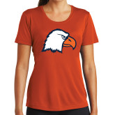 Ladies Performance Orange Tee-Eagle Head