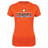 Ladies Performance Orange Tee-2017 NCAA DII Womens Soccer - CHAMPS