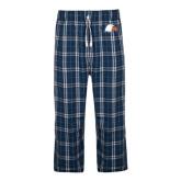 Navy/White Flannel Pajama Pant-Eagle Head