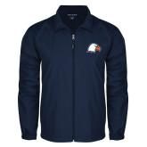 Full Zip Navy Wind Jacket-Eagle Head
