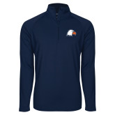 Sport Wick Stretch Navy 1/2 Zip Pullover-Eagle Head