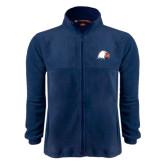 Fleece Full Zip Navy Jacket-Eagle Head