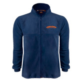 Fleece Full Zip Navy Jacket-Arched Carson-Newman University
