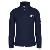 Columbia Ladies Full Zip Navy Fleece Jacket-Eagle Head