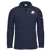 Columbia Full Zip Navy Fleece Jacket-Eagle Head